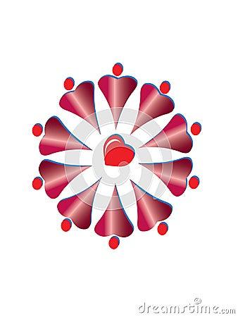 Free Hearts Logo Royalty Free Stock Images - 16543749