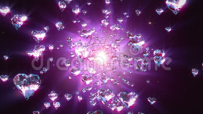 Hearts loopable background. Flight hearts loopable background animation