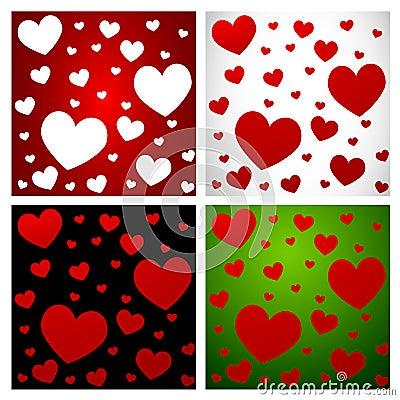 Hearts- Love pattern set-1