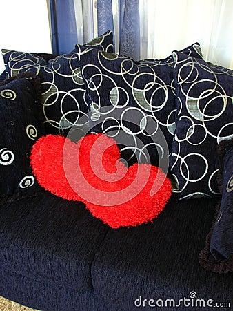 Hearts on Loveseat