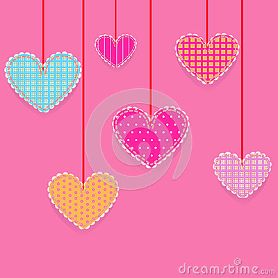 Hearts, patchwork