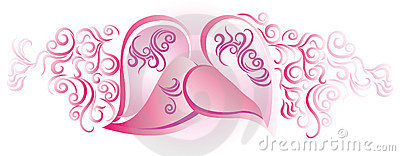 Hearts in pink