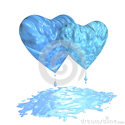 Hearts with puddle
