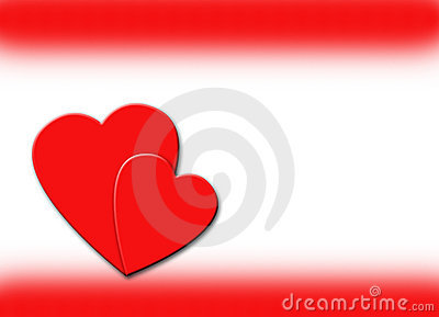 Hearts and Red Border Illustration