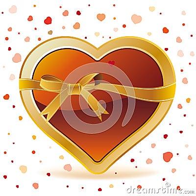 hearts with ribbon