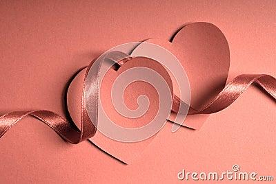 Hearts and ribbon