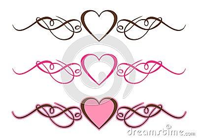 Hearts Scrolls Royalty Free Stock Photo - Image: 14097515