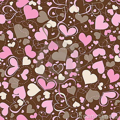 Free Hearts Seamless Pattern Stock Photos - 18223443