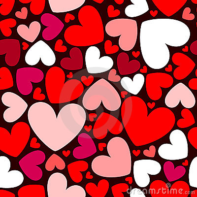 Free Hearts Seamless Pattern Stock Photos - 7557003