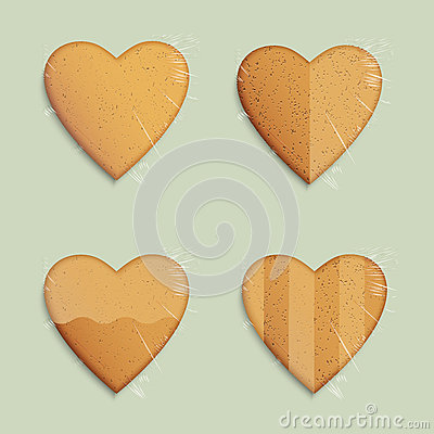 Hearts shapes cookies