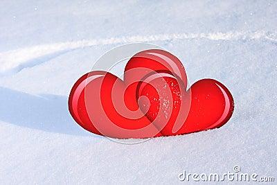 Hearts snow