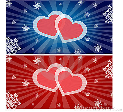 Hearts and Snowflakes