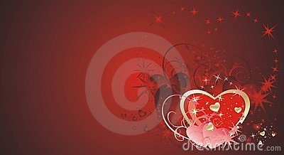 Hearts and stars. Decorative background