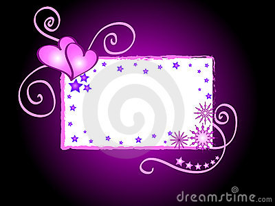 Hearts And Stars Frame Stock Photos - Image: 1752673