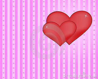 Hearts stripes background