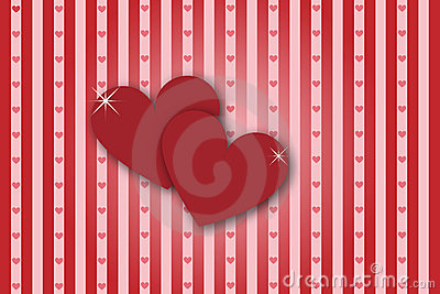 Hearts stripes background - valentine theme