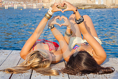 Hearts for summer vacation or holiday