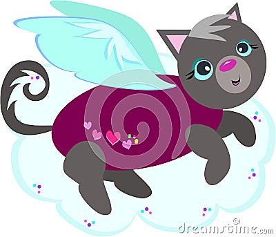 Hearts Sweater Cat Angel
