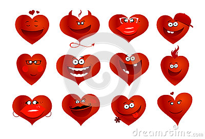Hearts symbols.