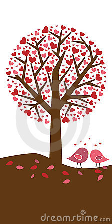 Free Hearts Tree Background - Valentine Theme Stock Images - 12335684