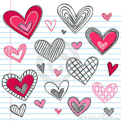 Hearts Valentine s Day Love Doodles