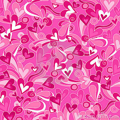 Hearts Vector Seamless Repeat Pattern