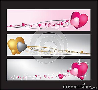 Hearts website banner set