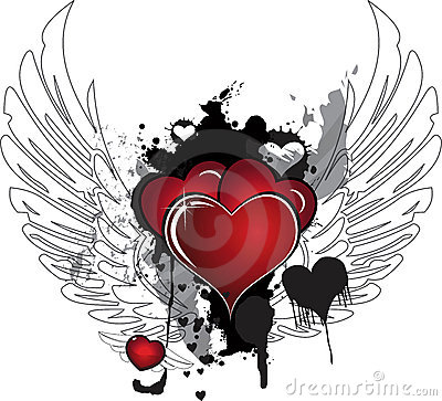 Hearts and wings