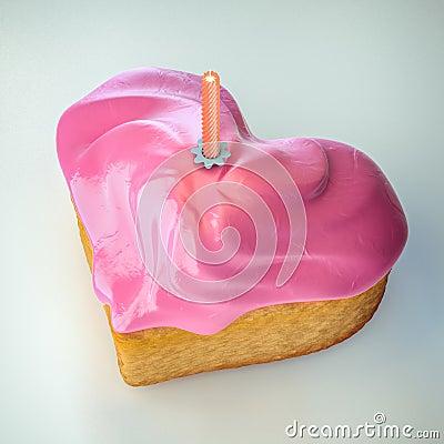 Heartshape cake