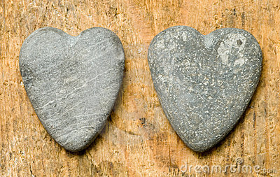 Heartshaped stones