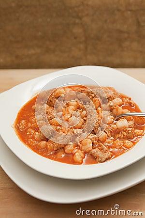 Hearty bowl of Pozole (Posole)