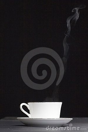 Heat cup of coffee