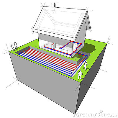Free Heat Pump Diagram Stock Photos - 17844513