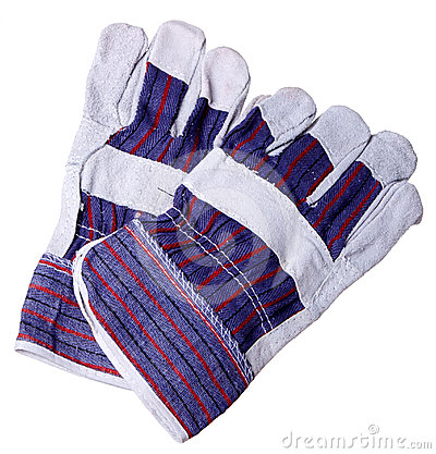 Heat resistant gloves for welding  pipes