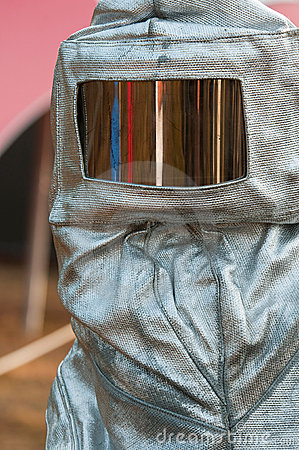 A heat suit with glass