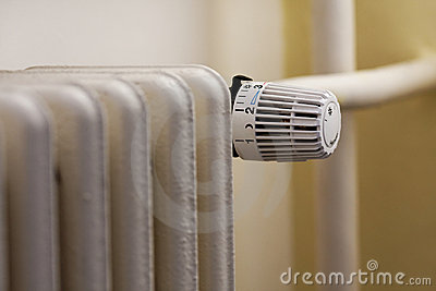 A heater with a thermostatic regulation valve.
