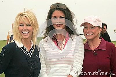 Heather Locklear,Catherine Zeta-Jones,Cheryl Ladd,Michael Douglas Editorial Stock Photo