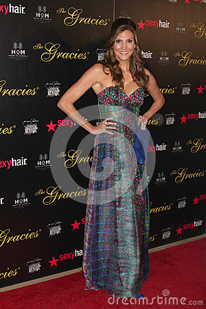 Heather McDonald arrives at the 37th Annual Gracie Awards Gala Editorial Photography