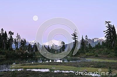 Heather Meadows Moonrise