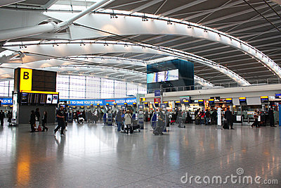 Heathrow airport Editorial Stock Photo