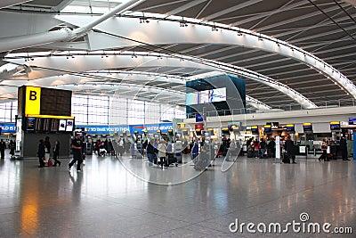 Heathrow airport Editorial Stock Photo