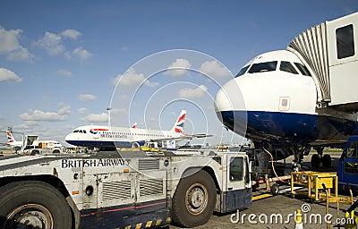 Heathrow airport. Editorial Photography