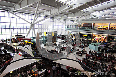 Heathrow Terminal 5 Editorial Stock Image