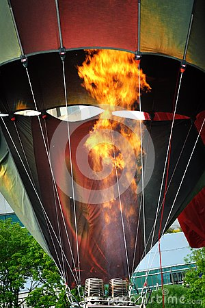 Heating the balloon