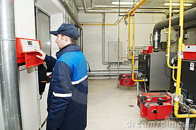 Heating engineer repairman