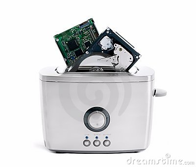 Heating hard disk in the toaster
