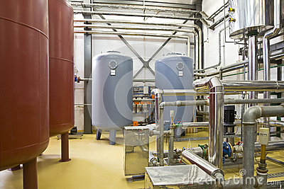 Heating system boiler room