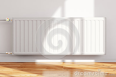 Heatingsystem attached to wall