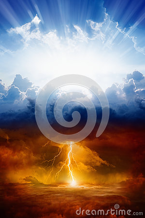 Free Heaven And Hell Royalty Free Stock Image - 65927426