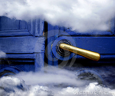 Heaven blue door